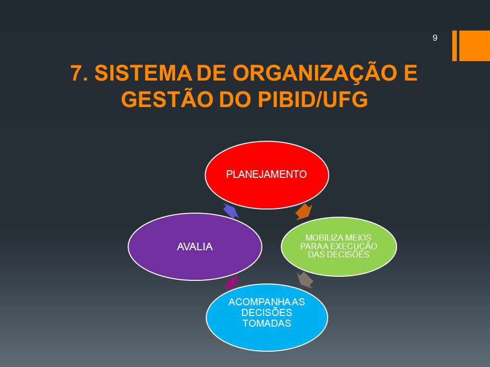 7. SISTEMA DE ORGANIZAÇÃO E GESTÃO DO PIBID/UFG