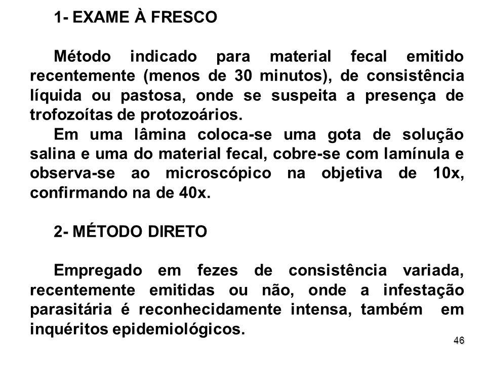 1- EXAME À FRESCO