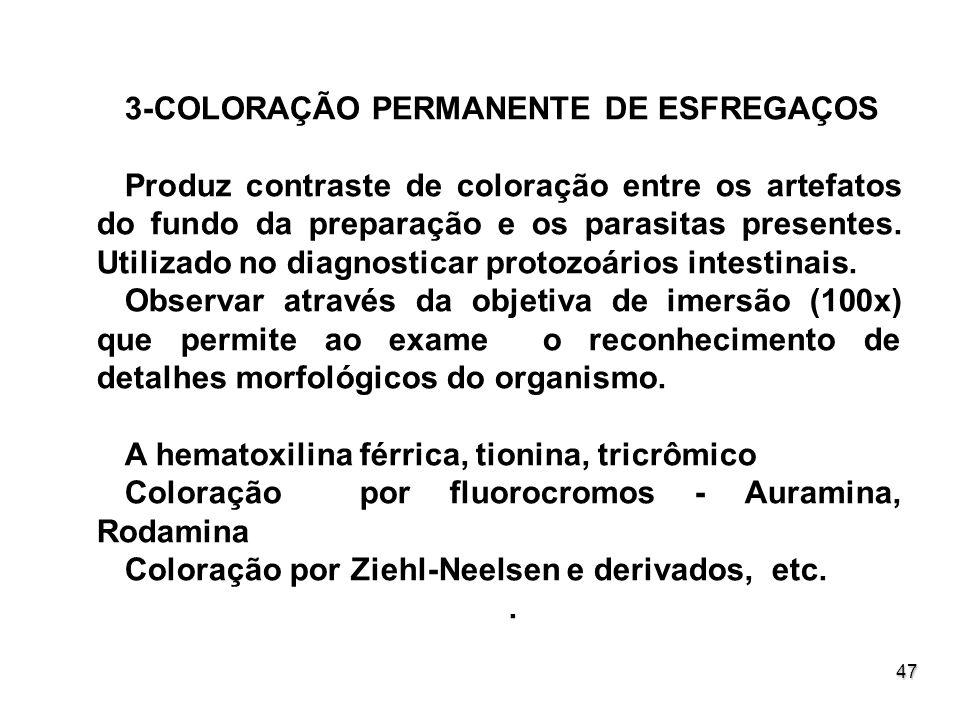 3-COLORAÇÃO PERMANENTE DE ESFREGAÇOS