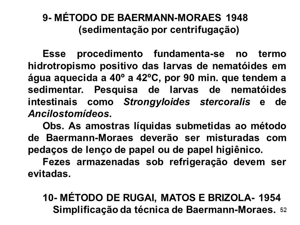 Simplificação da técnica de Baermann-Moraes.