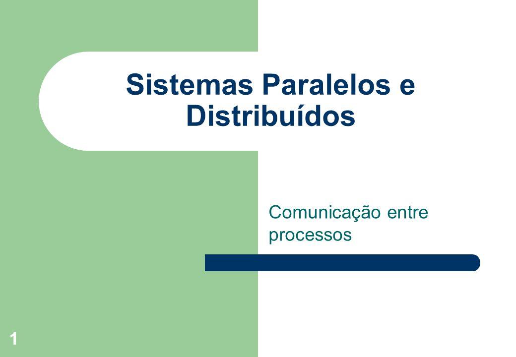 Sistemas Paralelos e Distribuídos