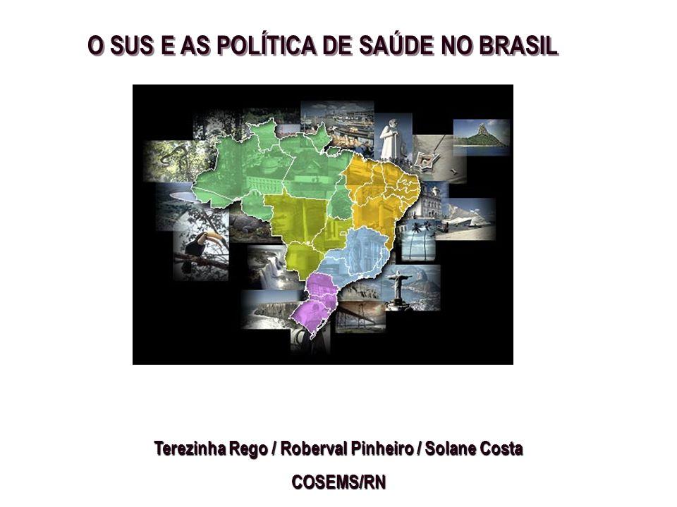 O SUS E AS POLÍTICA DE SAÚDE NO BRASIL