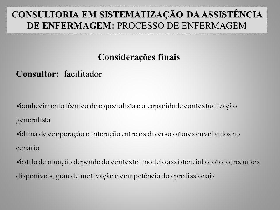 Consultor: facilitador
