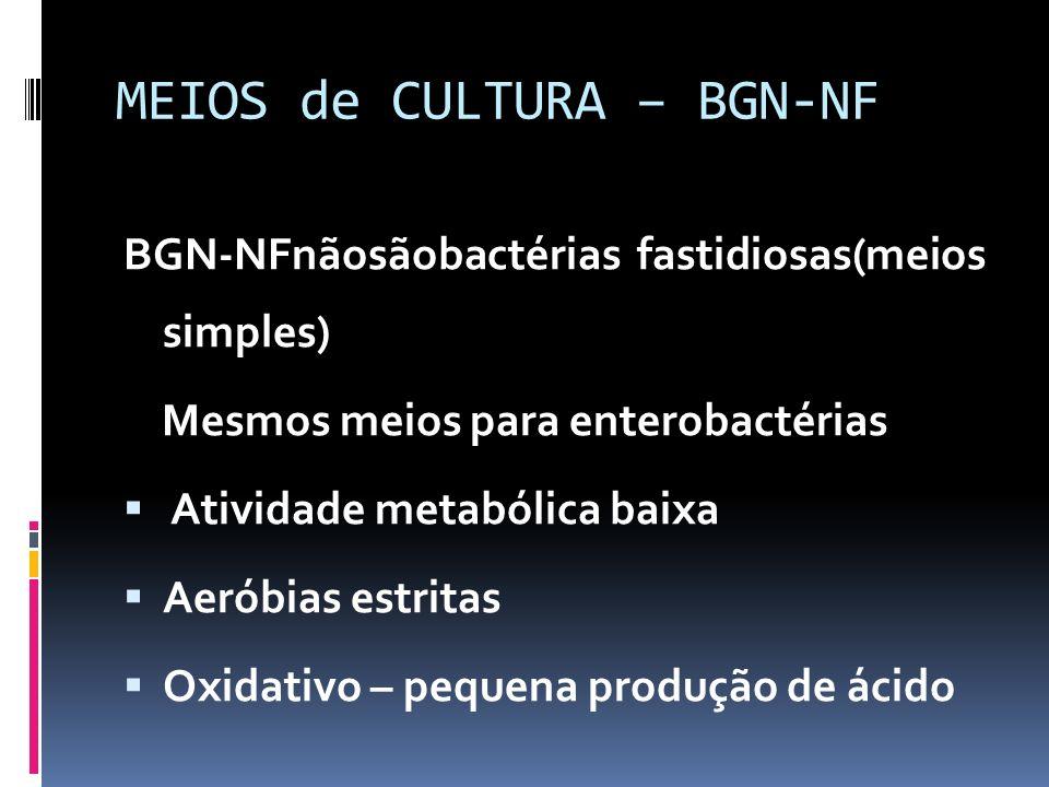 MEIOS de CULTURA – BGN-NF
