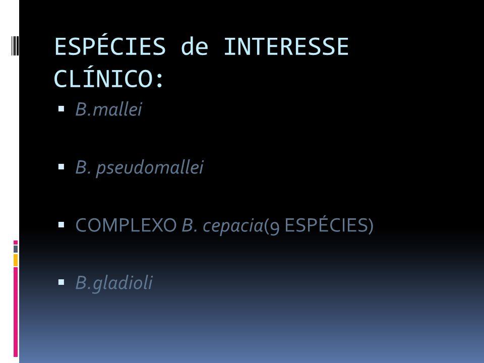 ESPÉCIES de INTERESSE CLÍNICO: