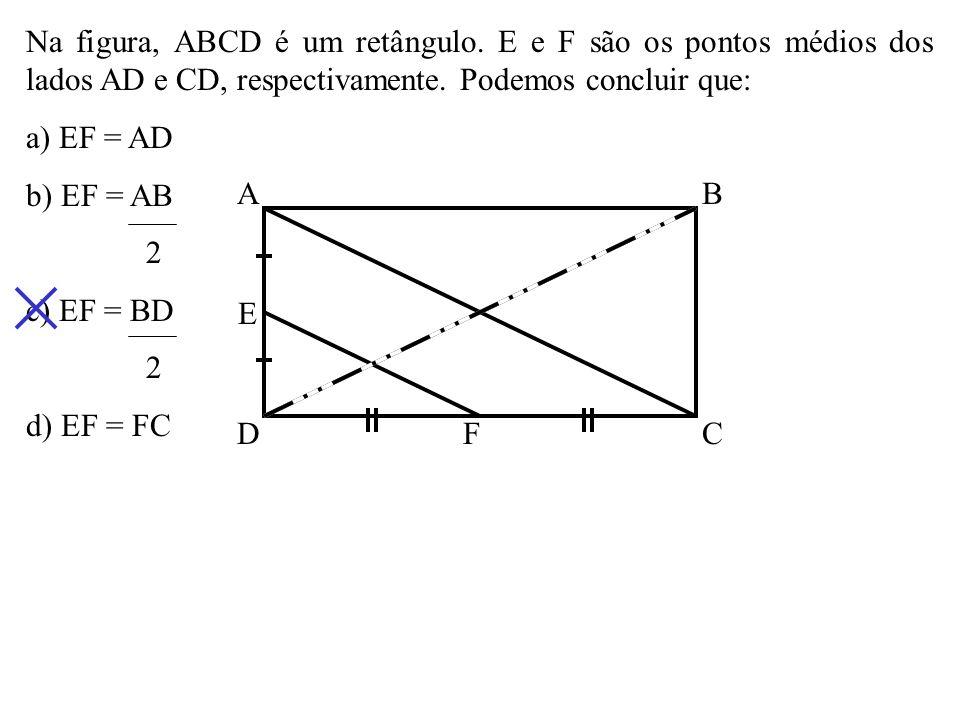 Na figura, ABCD é um retângulo