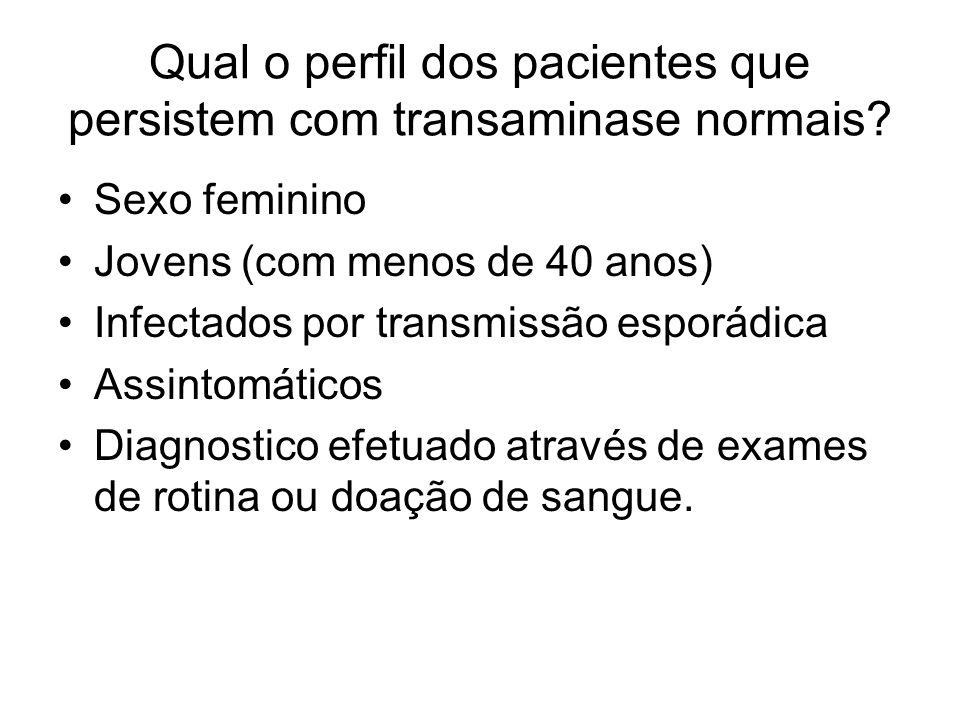 Qual o perfil dos pacientes que persistem com transaminase normais