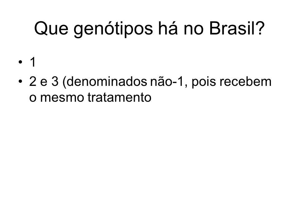 Que genótipos há no Brasil