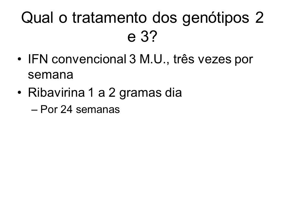 Qual o tratamento dos genótipos 2 e 3