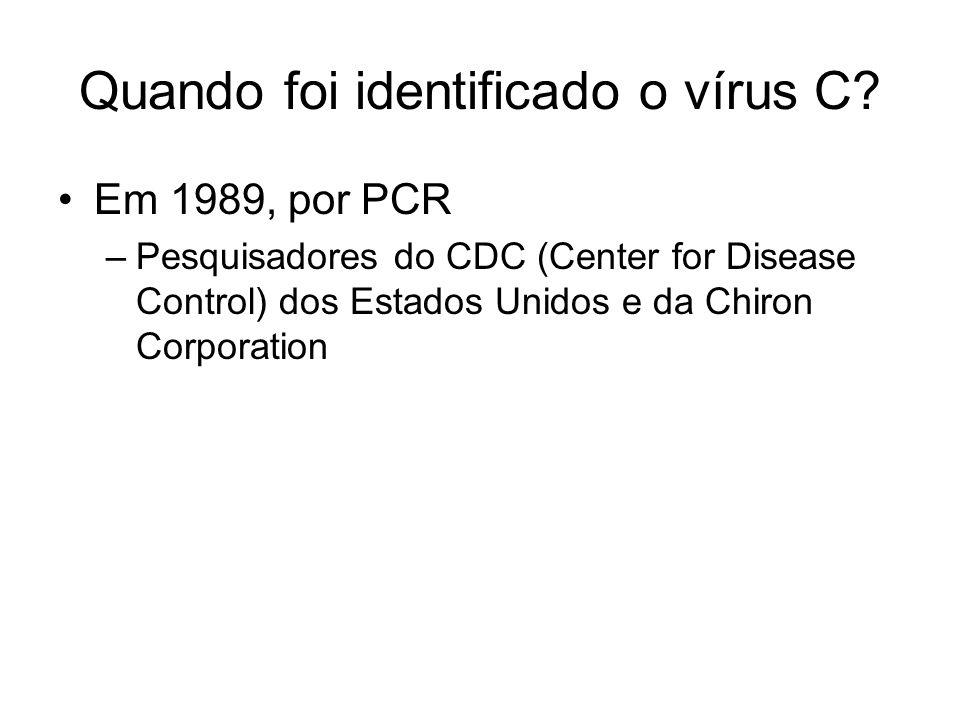 Quando foi identificado o vírus C