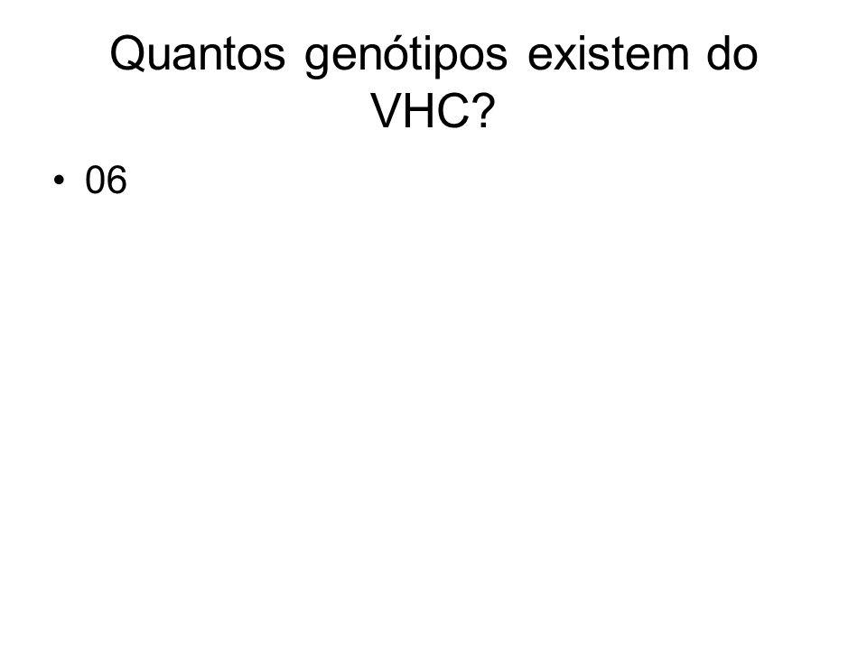 Quantos genótipos existem do VHC
