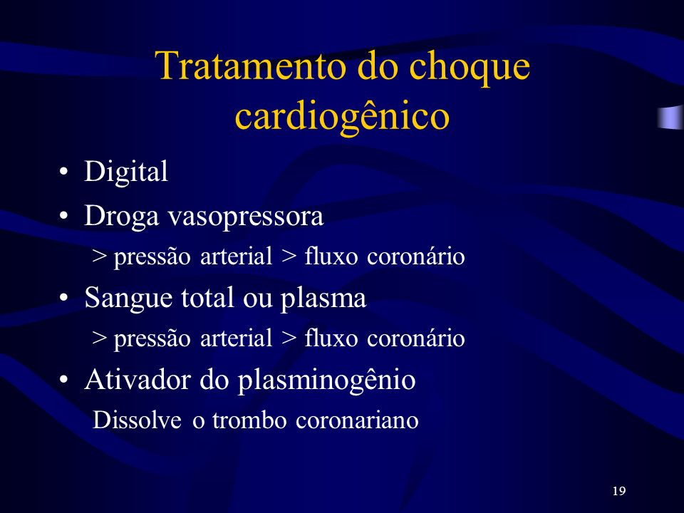 Tratamento do choque cardiogênico