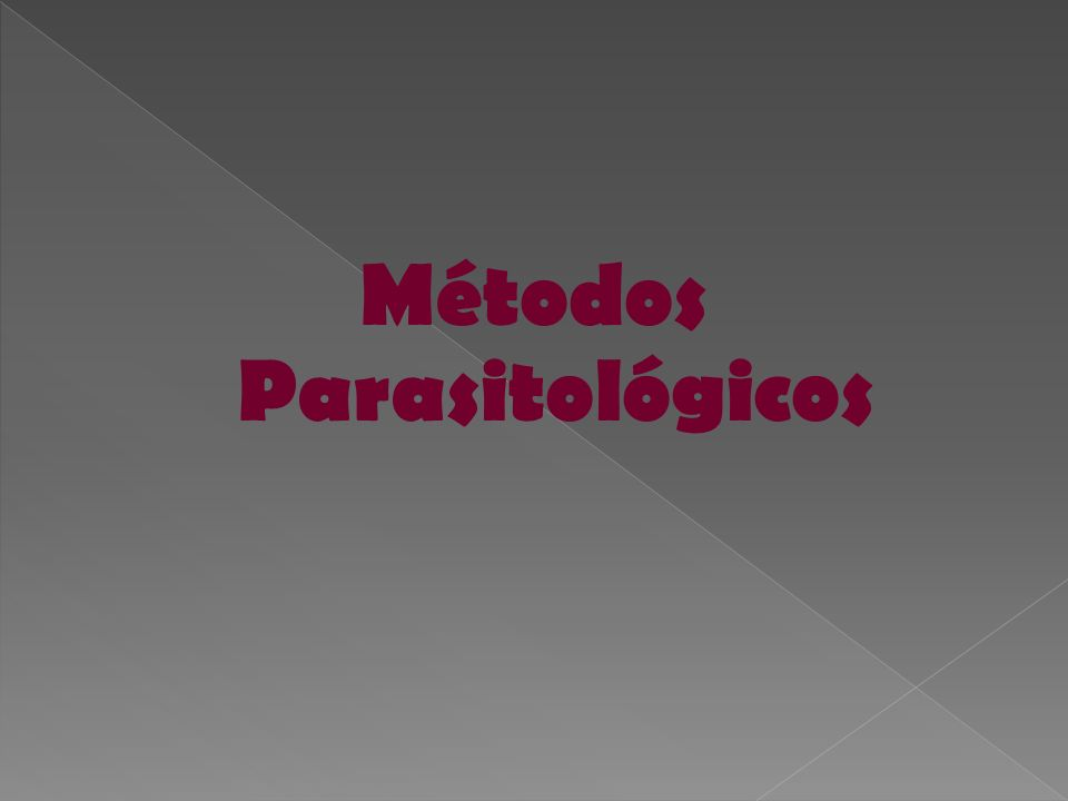Métodos Parasitológicos