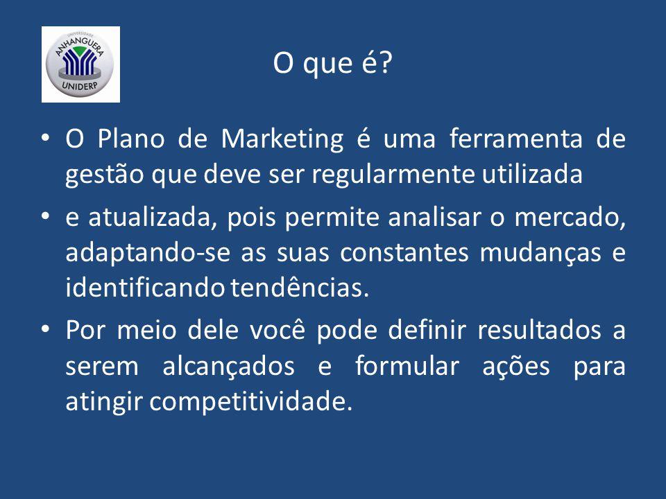 O que é O Plano de Marketing é uma ferramenta de gestão que deve ser regularmente utilizada.