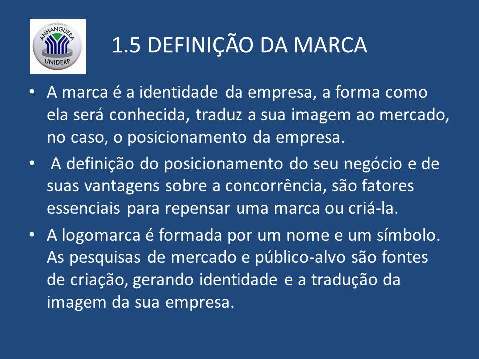 1.5 DEFINIÇÃO DA MARCA