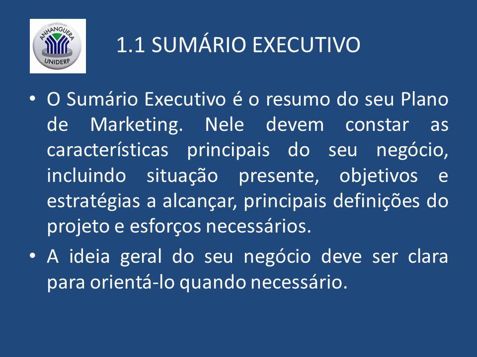 1.1 SUMÁRIO EXECUTIVO