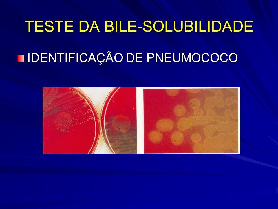 TESTE DA BILE-SOLUBILIDADE