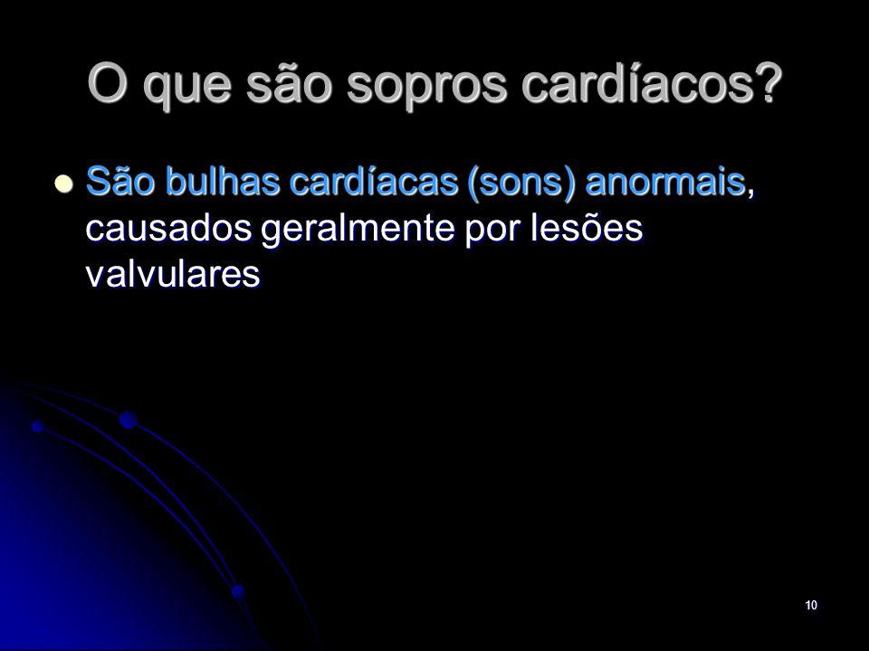 O que são sopros cardíacos