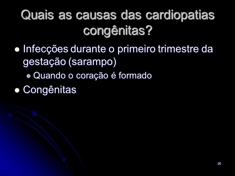 Quais as causas das cardiopatias congênitas