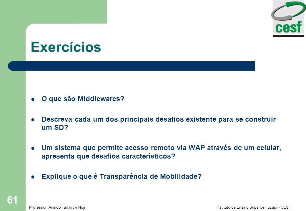 Exercícios O que são Middlewares