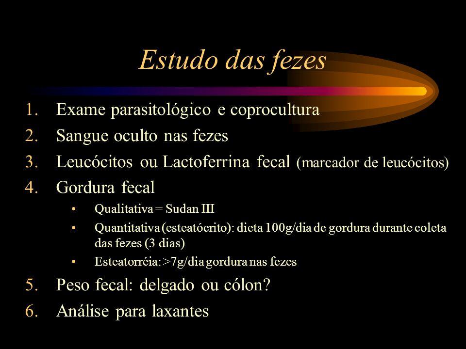 Estudo das fezes Exame parasitológico e coprocultura
