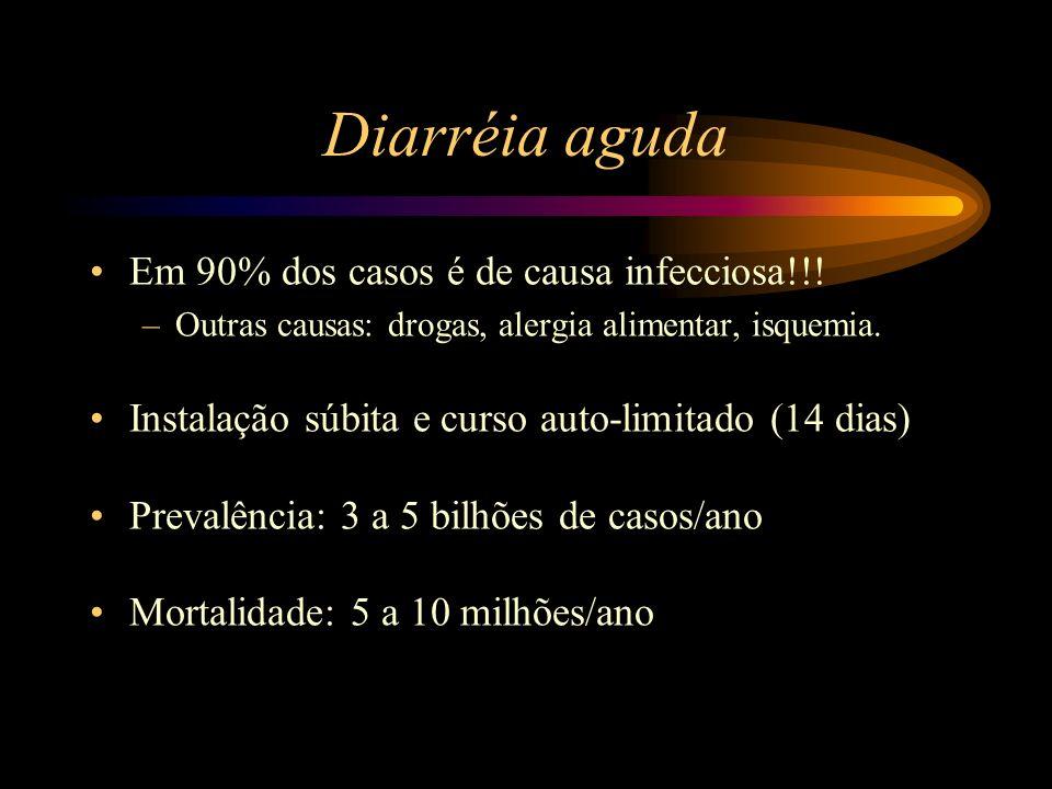 Diarréia aguda Em 90% dos casos é de causa infecciosa!!!