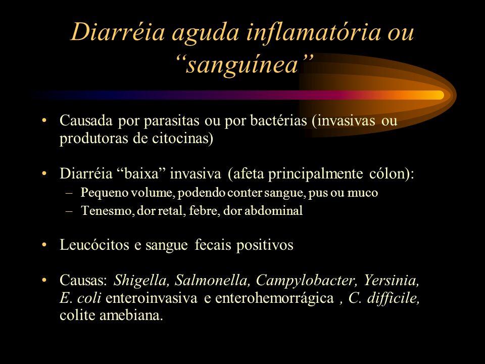 Diarréia aguda inflamatória ou sanguínea