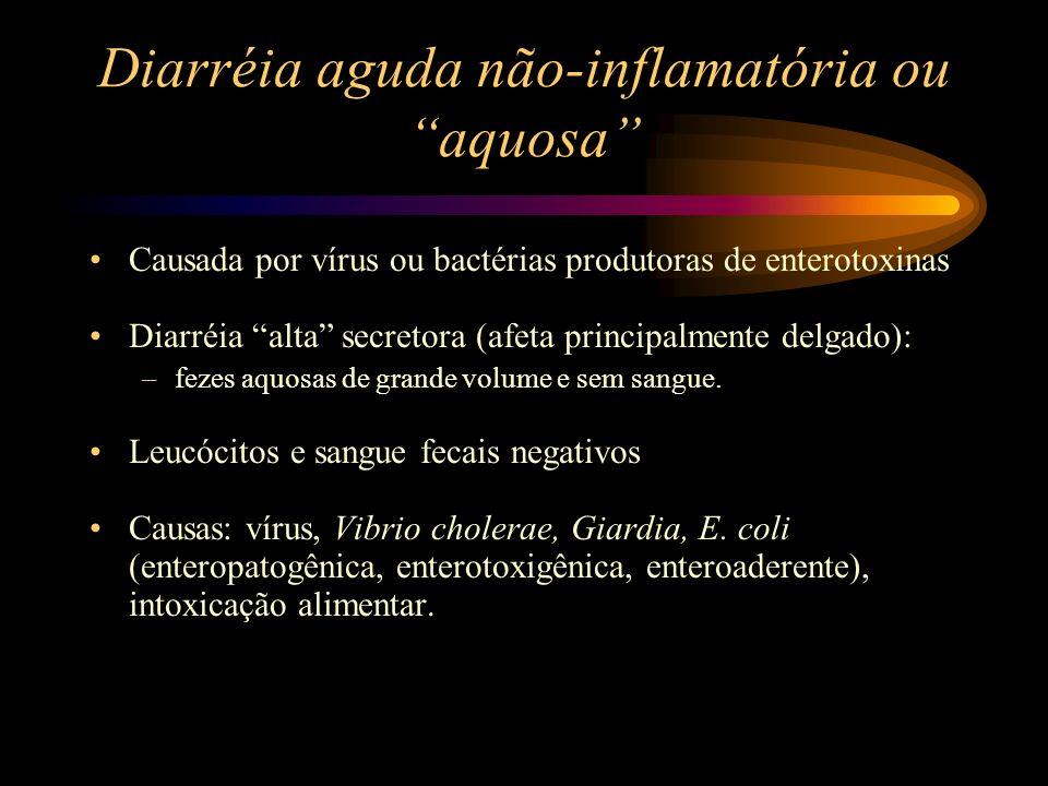 Diarréia aguda não-inflamatória ou aquosa