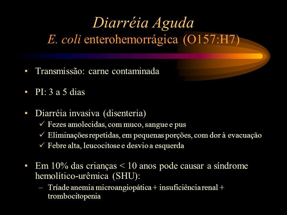 Diarréia Aguda E. coli enterohemorrágica (O157:H7)