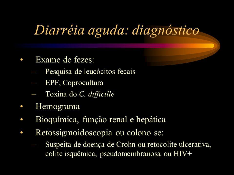 Diarréia aguda: diagnóstico