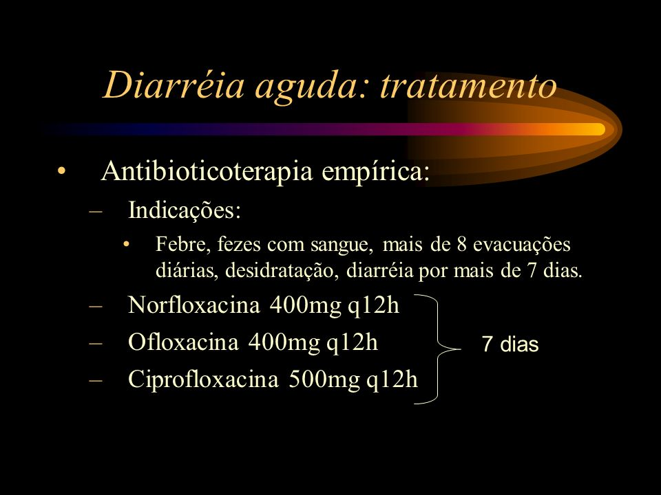 Diarréia aguda: tratamento