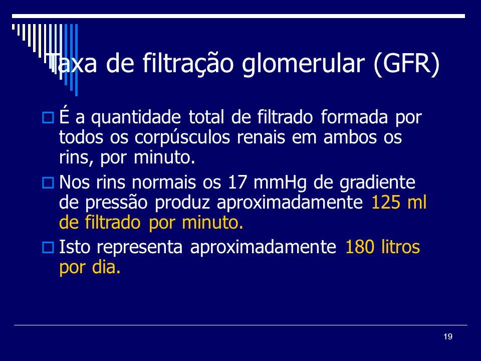 Taxa de filtração glomerular (GFR)