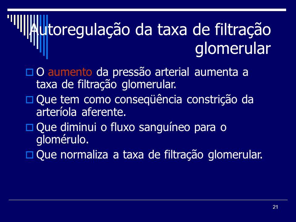 Autoregulação da taxa de filtração glomerular