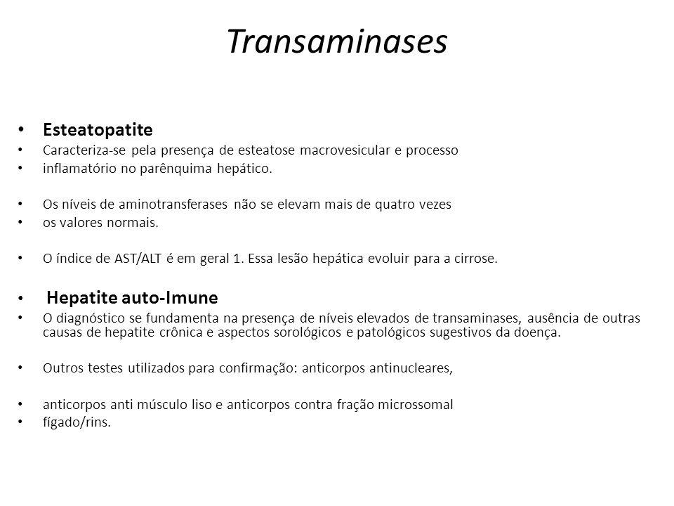 Transaminases Esteatopatite Hepatite auto-Imune