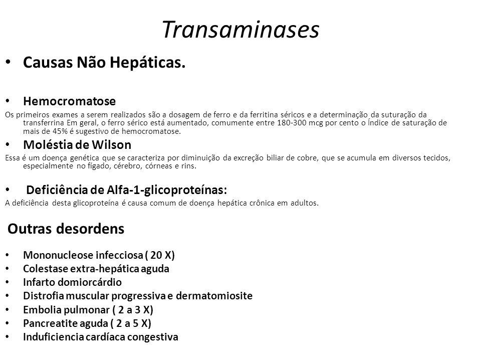 Transaminases Causas Não Hepáticas. Hemocromatose Moléstia de Wilson