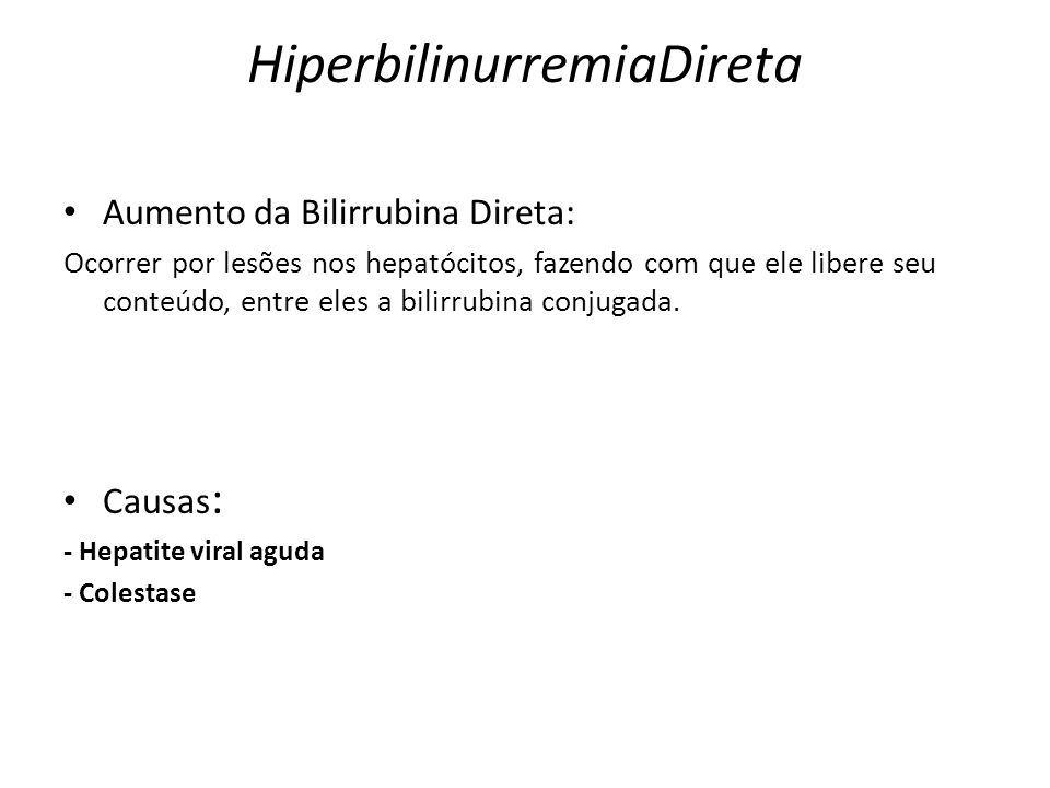 HiperbilinurremiaDireta