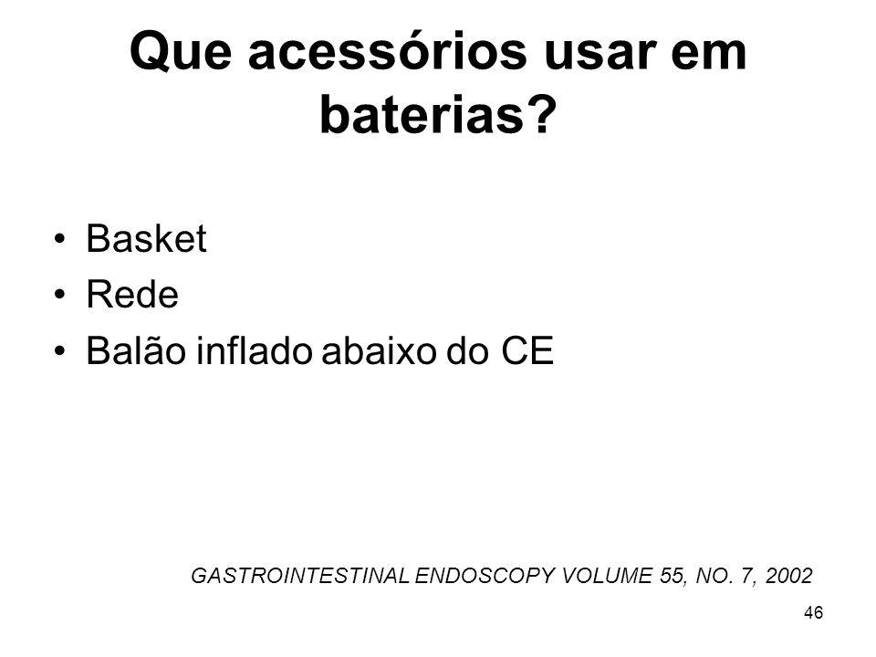 Que acessórios usar em baterias