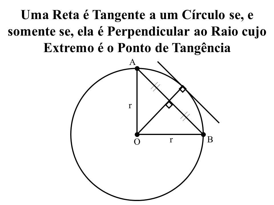 Uma Reta é Tangente a um Círculo se, e somente se, ela é Perpendicular ao Raio cujo Extremo é o Ponto de Tangência