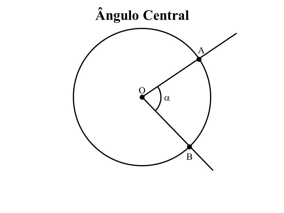 Ângulo Central A O  B