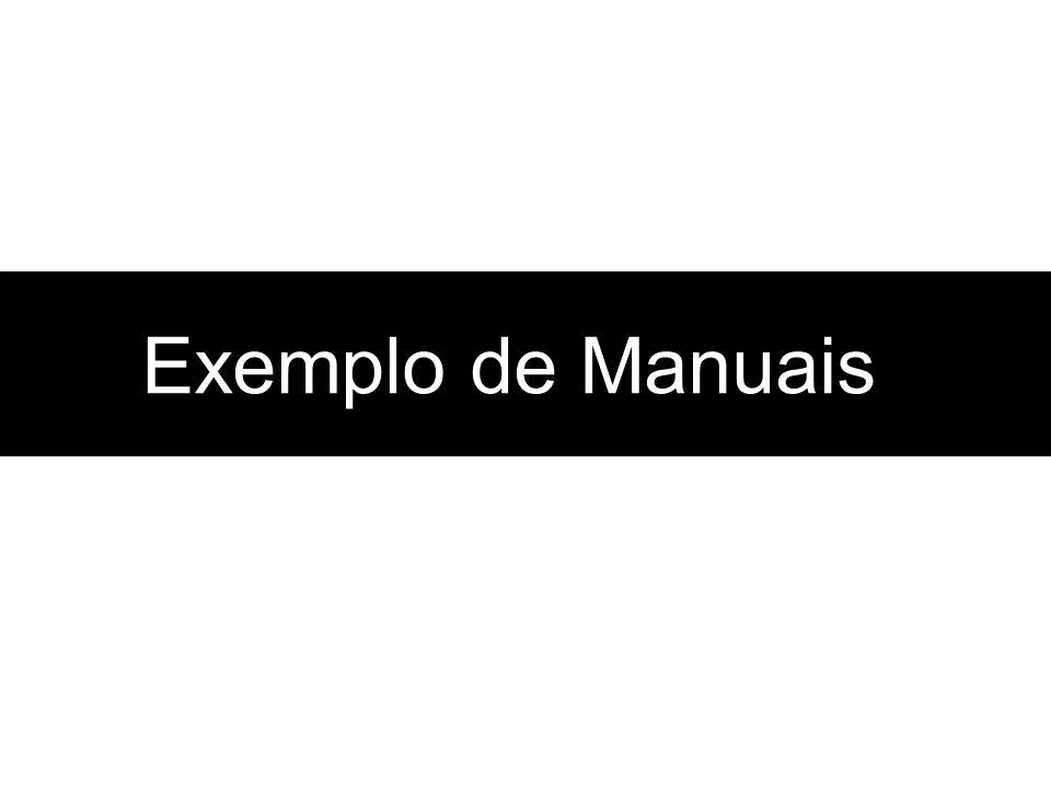 Exemplo de Manuais