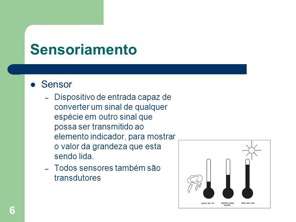 Sensoriamento Sensor.