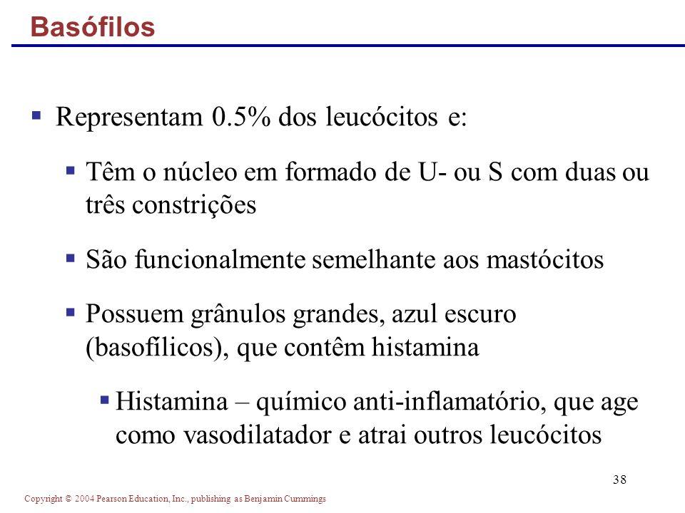 Representam 0.5% dos leucócitos e: