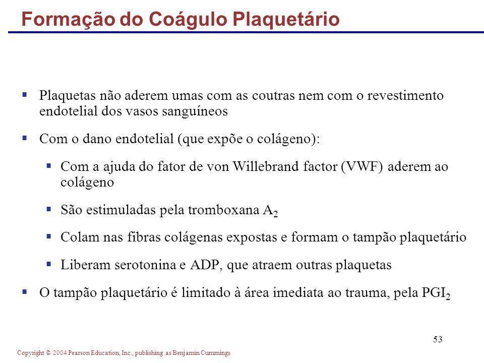 Formação do Coágulo Plaquetário