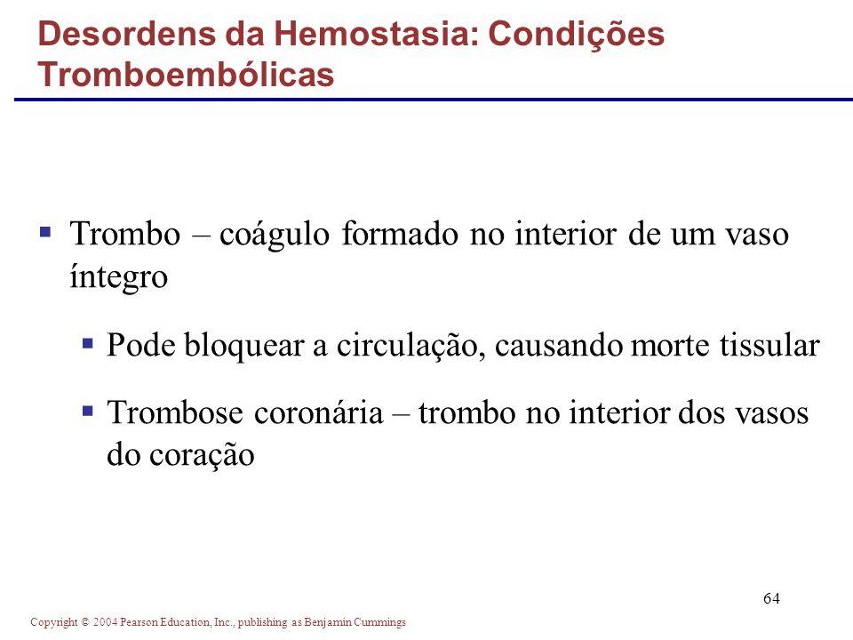 Desordens da Hemostasia: Condições Tromboembólicas