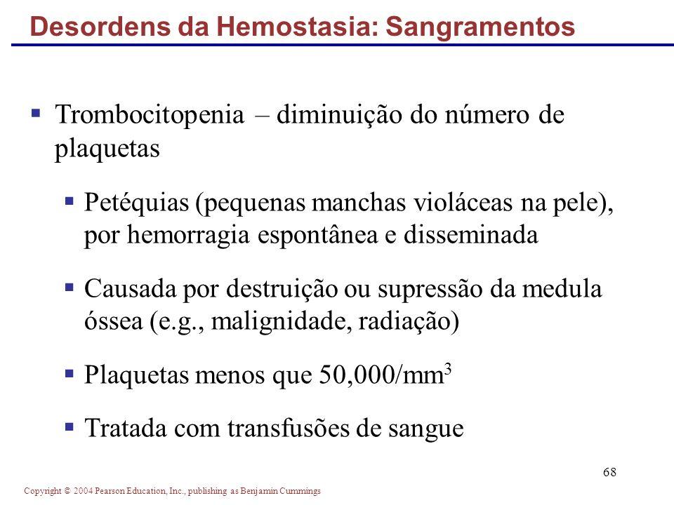 Desordens da Hemostasia: Sangramentos