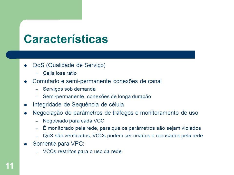 Características QoS (Qualidade de Serviço)