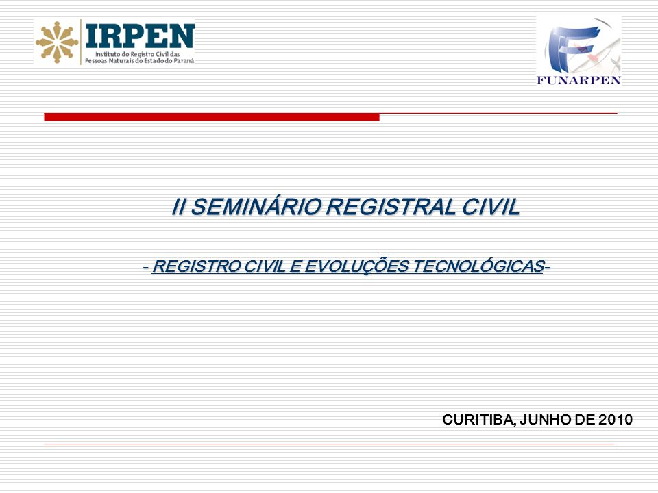 II SEMINÁRIO REGISTRAL CIVIL