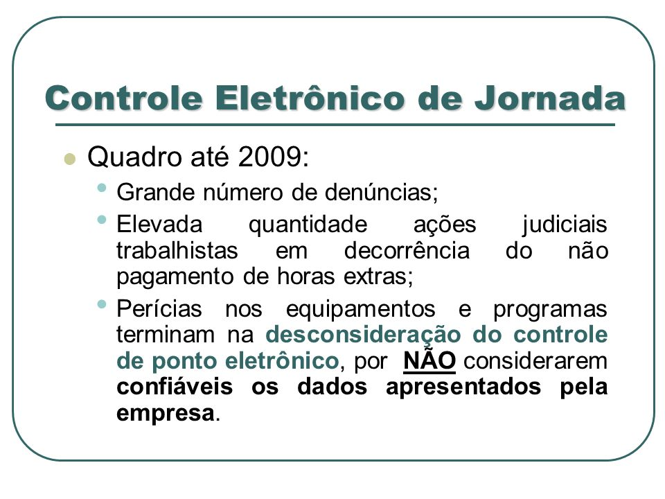 Controle Eletrônico de Jornada