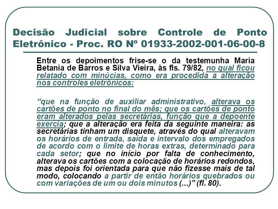 Decisão Judicial sobre Controle de Ponto Eletrônico - Proc