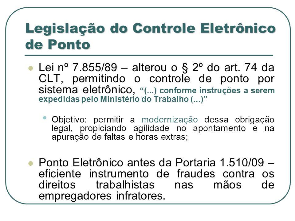 Legislação do Controle Eletrônico de Ponto